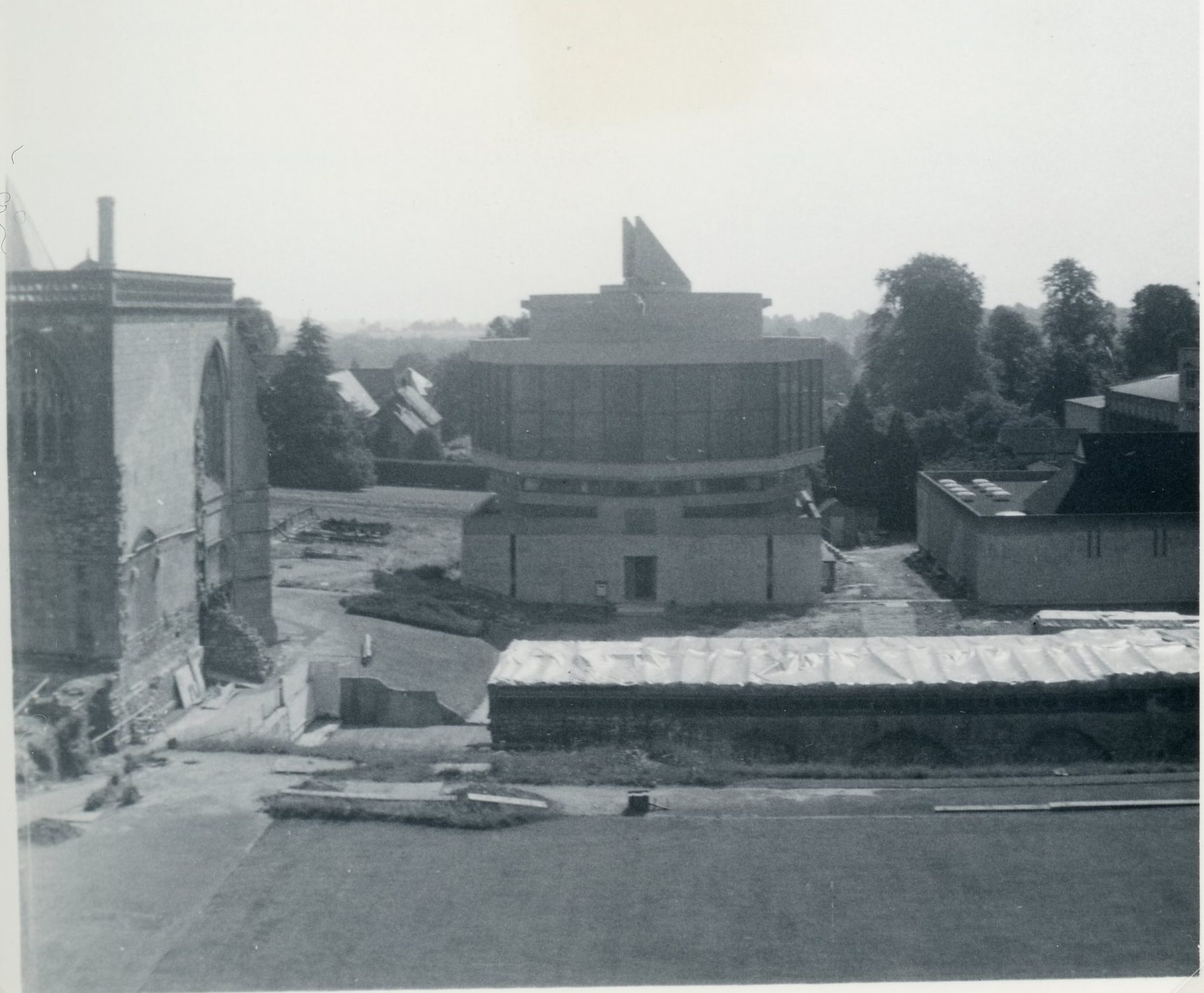 Old image of monastery library and archives