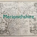 Merionithshire old map