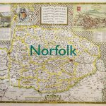 Old map of norfolk
