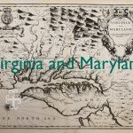 Old map of Virginia and Maryland