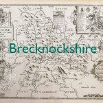 Map of Brecknockshire