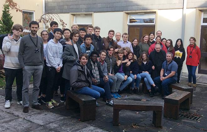 Group photo of catholic retreat