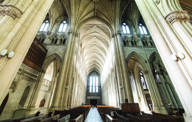 Inside Downside Abbey church