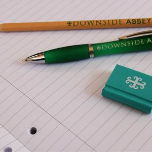 Downside branded pen, pencil and eraser