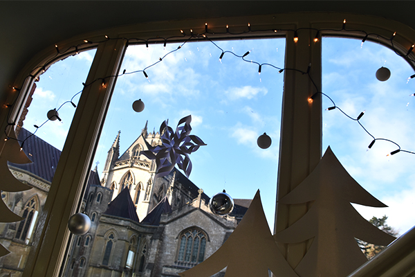 Christmas at Downside Abbey visitor centre