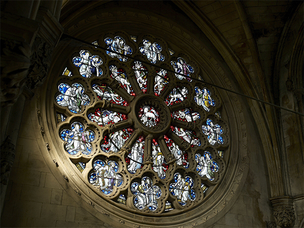Rose window in Downside Abbey