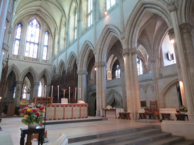 Architecture inside Downside Abbey