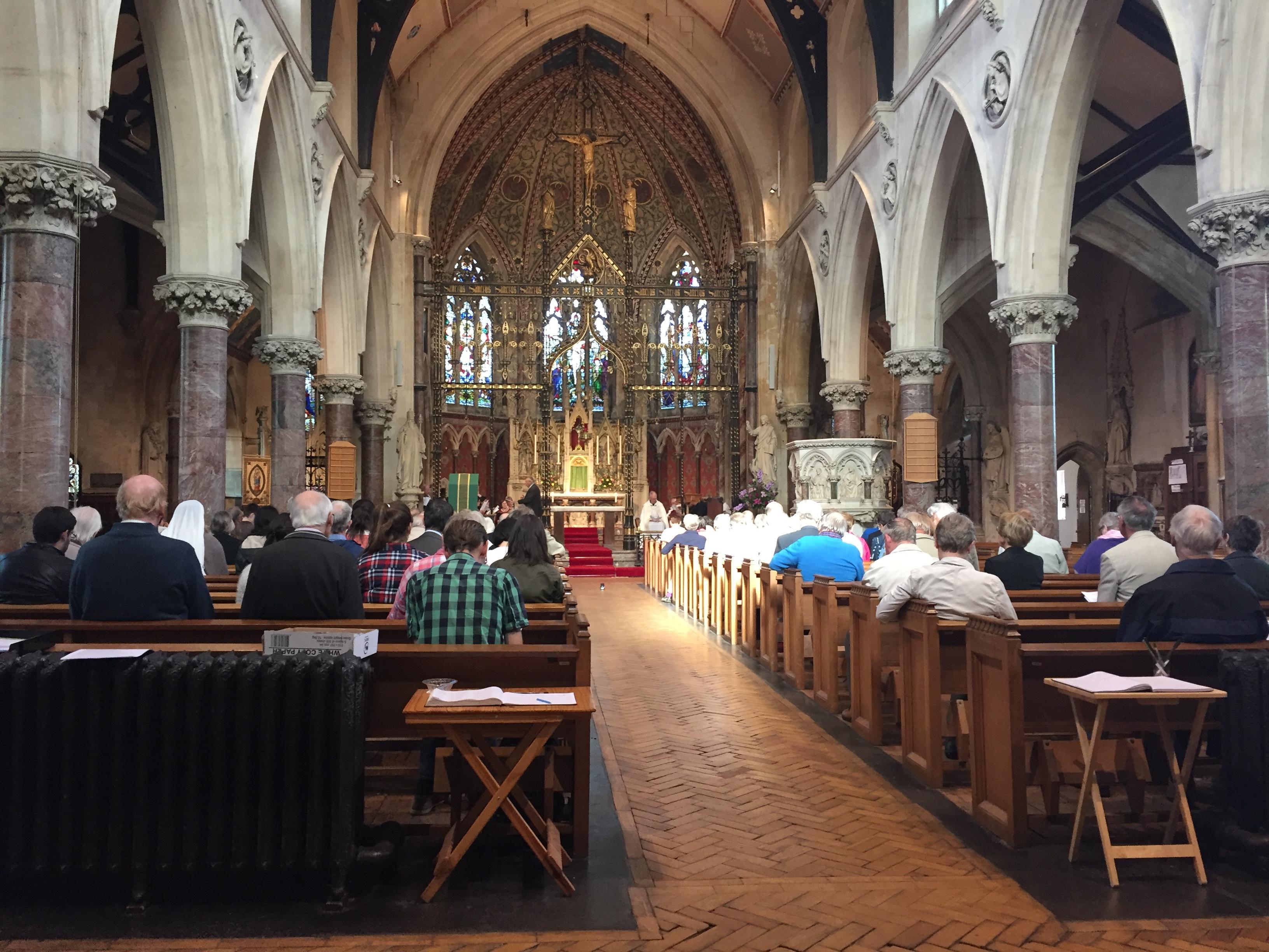 Downside Abbey service