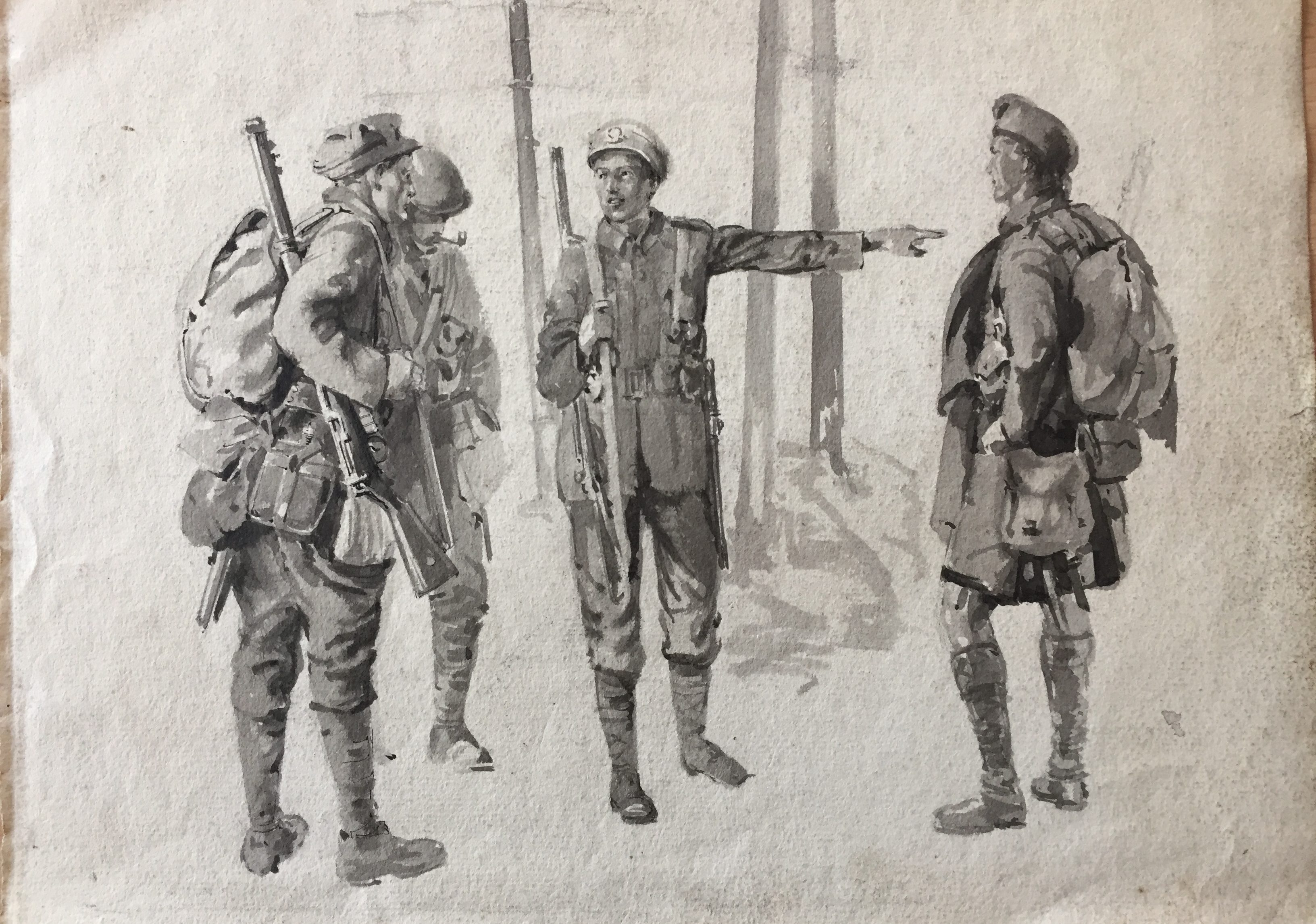 Old image of soldiers of the Great War