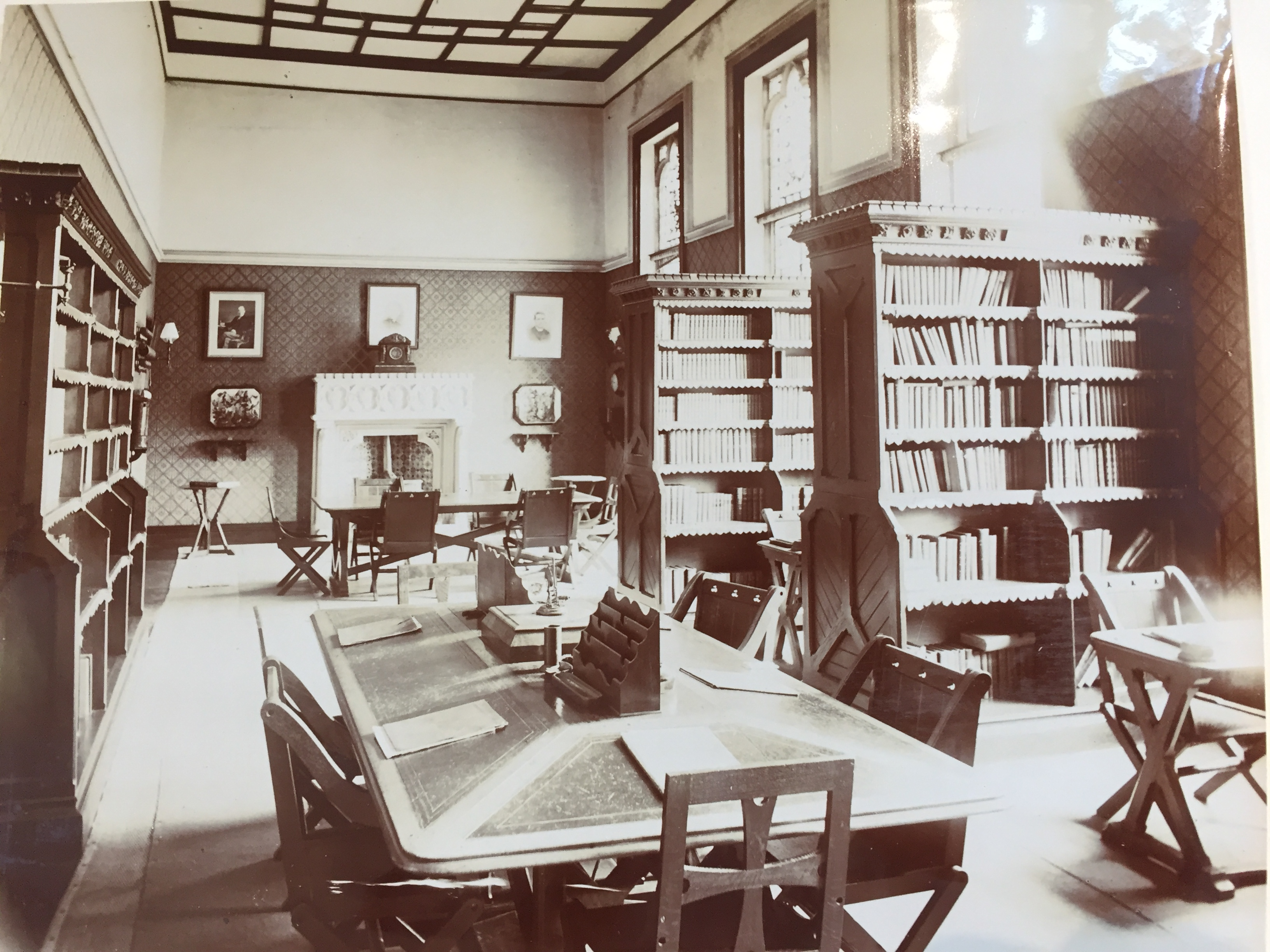 Old photo of Downside Library