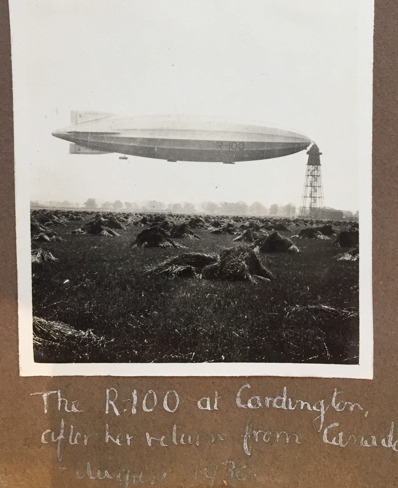 Photographs of R100 airship
