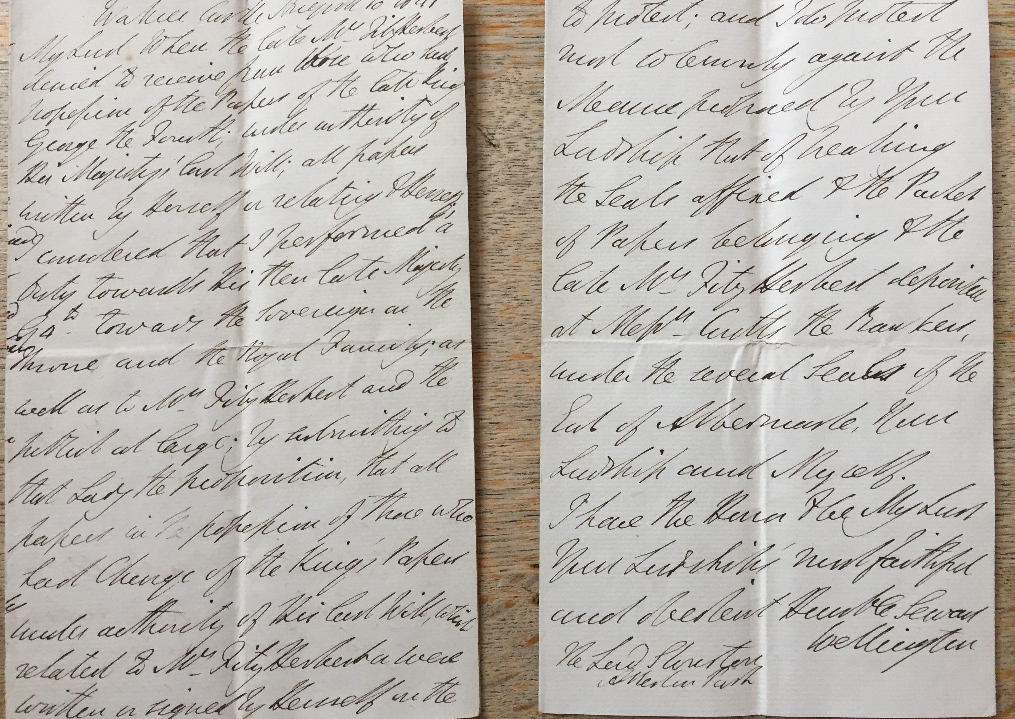 King George IV & Mrs Fitzherbert letters