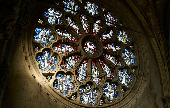 Rose window in Abbey