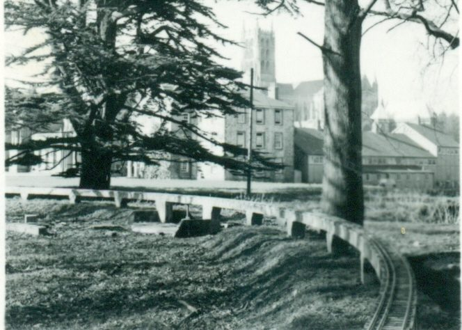 Old photo of Downside Abbey