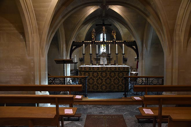 Downside abbey church crypt