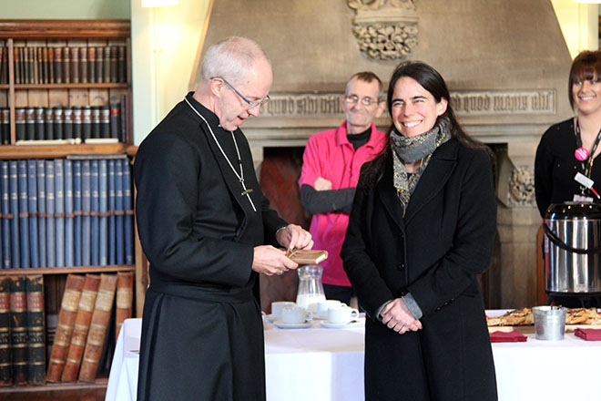 Downside Monks welcome Archbishop
