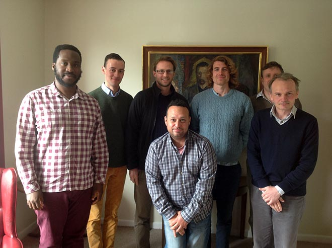 Group of men considering vocation to priesthood and/or religious life