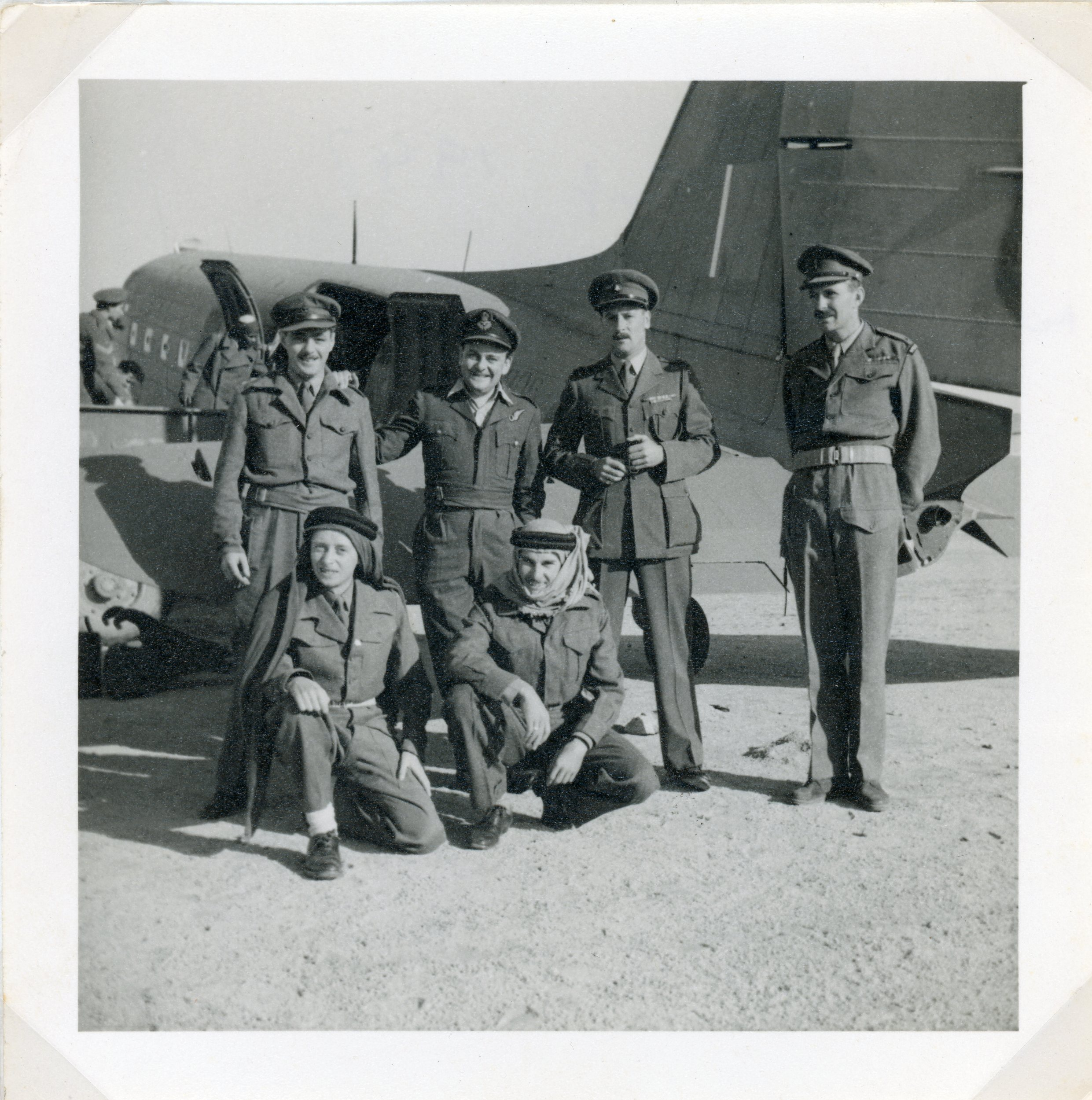 Fr Joseph Coombe Tenant in uniform in front of old aircraft