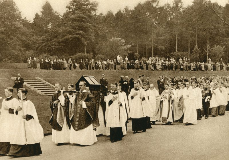 Downside monks parade