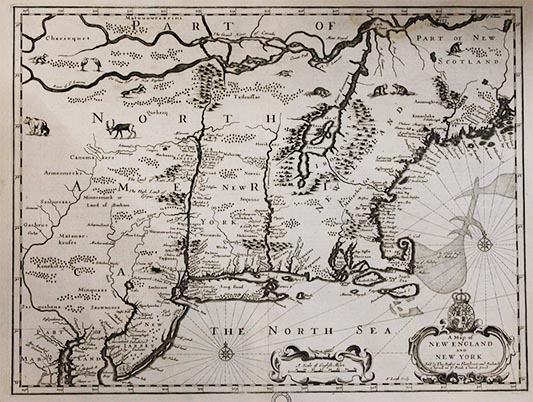 North America old map