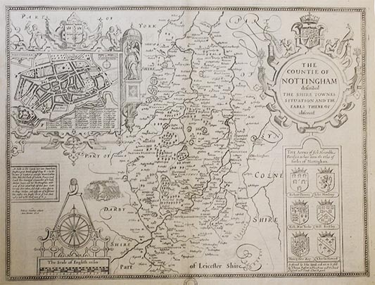 Old map of Nottingham