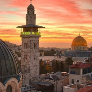 Sunset in the holy land