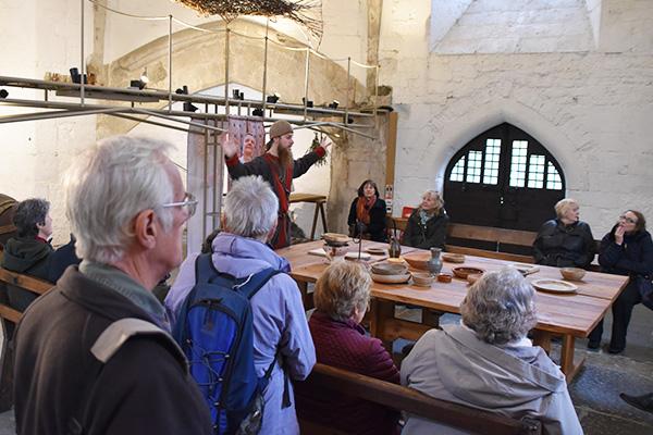 Downside volunteers tour