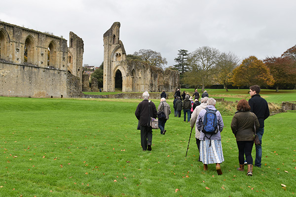 Volunteers visit Glastonbury Abbey