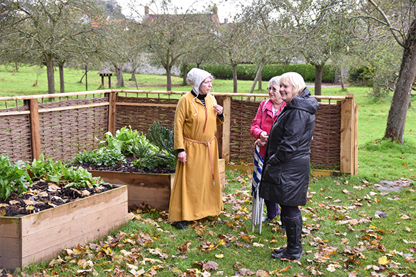 Volunteers visit Glastonbury Abbey