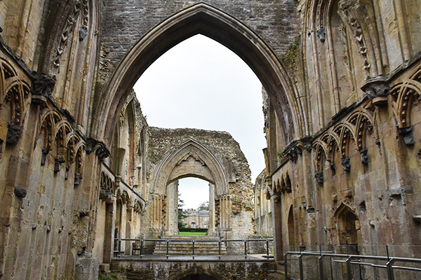 View through Abbey arches